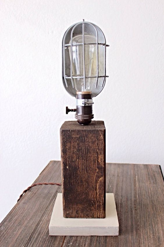 Industrial Table Lamp The Fitzgerald by RuggedNorthCo on Etsy