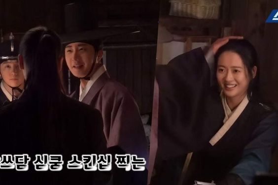 "Watch: Jung Il Woo And Go Ara Rehearse Heart-Fluttering Scene For ""Haechi"""