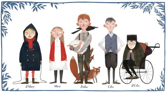 "Characters for ""the Secret Garden"" by Julia Sarda"