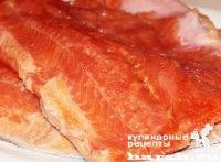 Малосольная красная рыба на молоке по-мурмански