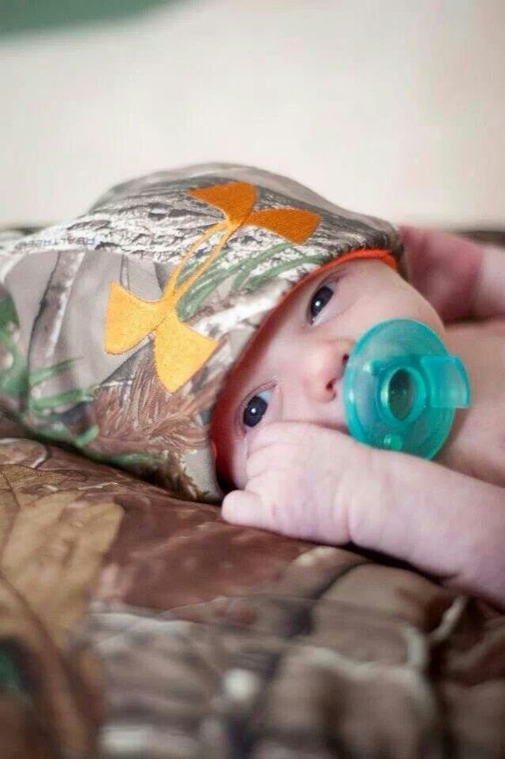Camouflage baby hat