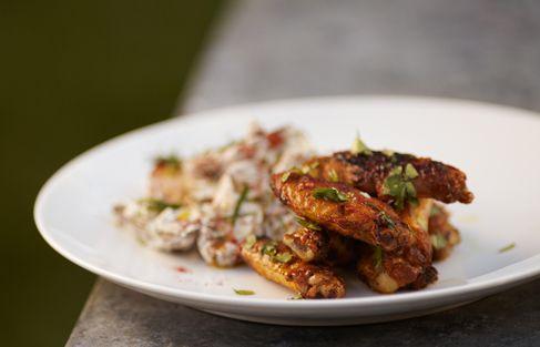 ... Chicken Wings & Heirloom Potato Salad : Recipe courtesy of Michael