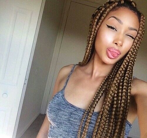 Tran 231 As Africanas Box Braids Pinterest