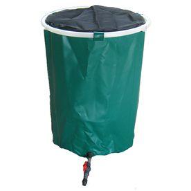 Bosmere 50-Gallon Green Plastic Rain Barrel K756