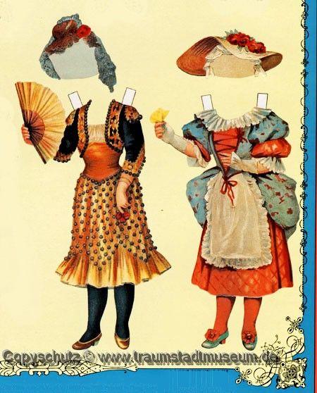 McLoughlin Bros Dressing Dolls Anziehpuppen Papierpuppen Reprint 1890 Paperdolls | eBay