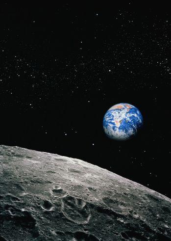 月面から見える地球