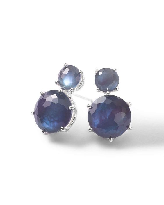 Wonderland 2-Stone Stud Earrings