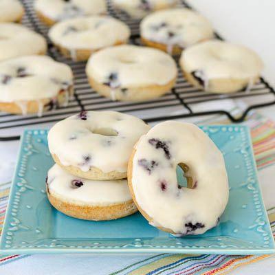 Baked Blueberry Donuts - wonderful breakfast treat!