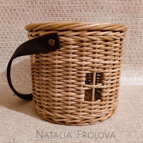 Wicker Gift Basket Packaging Basket With Leather Handle Children Basket Basket For The Holidays Round Gift Box Storage Basket In 2020 Wicker Round Basket Round Gift Boxes