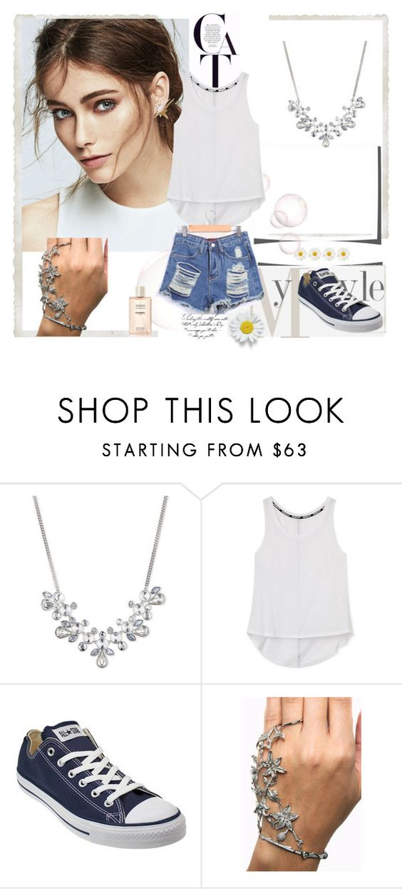 """"""":)"""" by abecic ❤ liked on Polyvore featuring Givenchy, Rebecca Minkoff, Converse, women's clothing, women, female, woman, misses and juniors"""