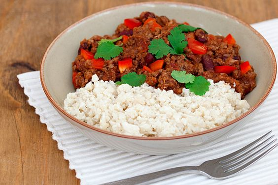 Slimming World chilli and cauliflower rice recipe ...