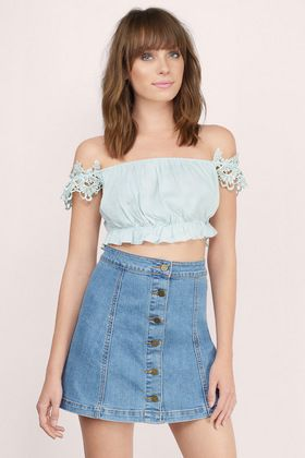 Violet Off Shoulder Top
