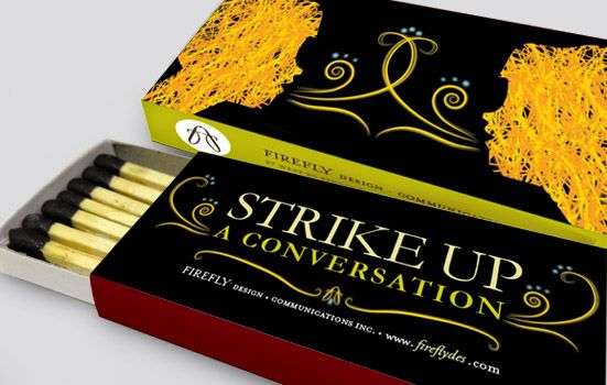 Firefly Design + Communication promotional product.  #matchbox #pun #packaging #design #promotional