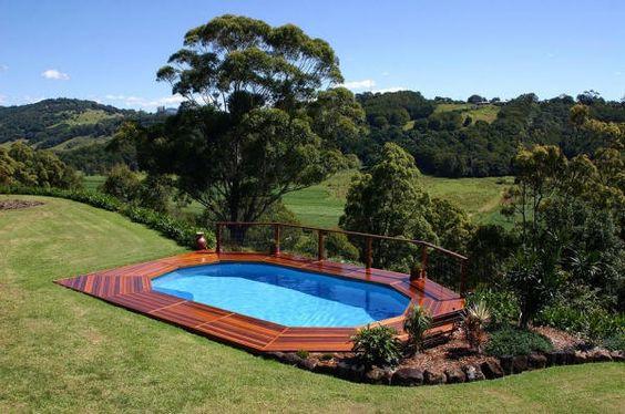 semi above ground pools