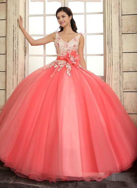 Details about New Ball Gown Quinceanera Dress Prom Pageant Party ...