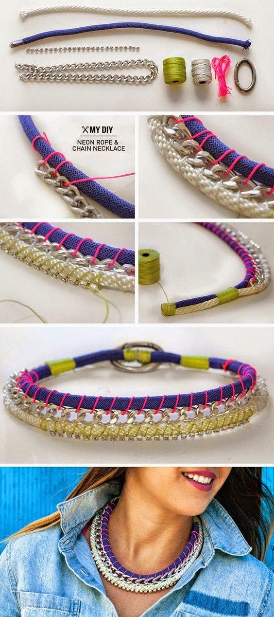 Mundo Crafting: Maxi collar casero