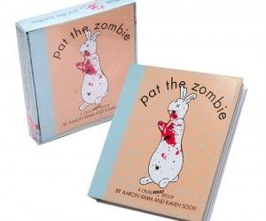 """A hilarious zombie spoof on the classic """"Pat The Bunny"""" book."""