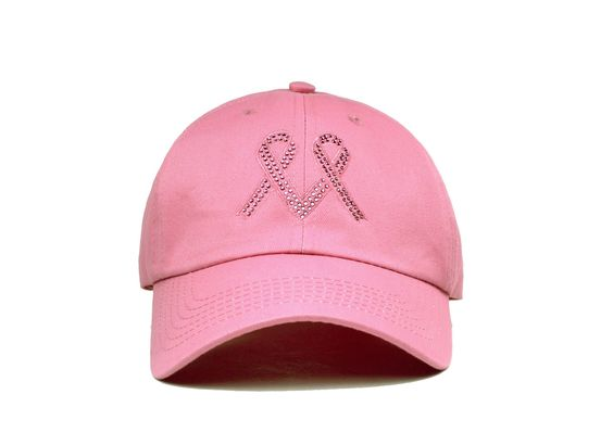 Pink Ribbon Collection - Pink Ribbon Heart (Dark Pink)- Ponytail Baseball Cap - Zipper in the Back