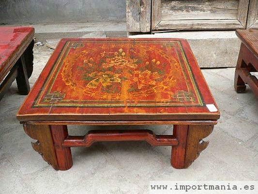 Mesa decorada china de centro - Muebles chinos - muebles orientales - decorac...