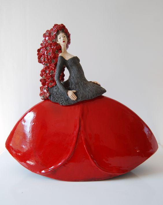 Sculpture Fille Coquelicot 2016 Pauline Wateau