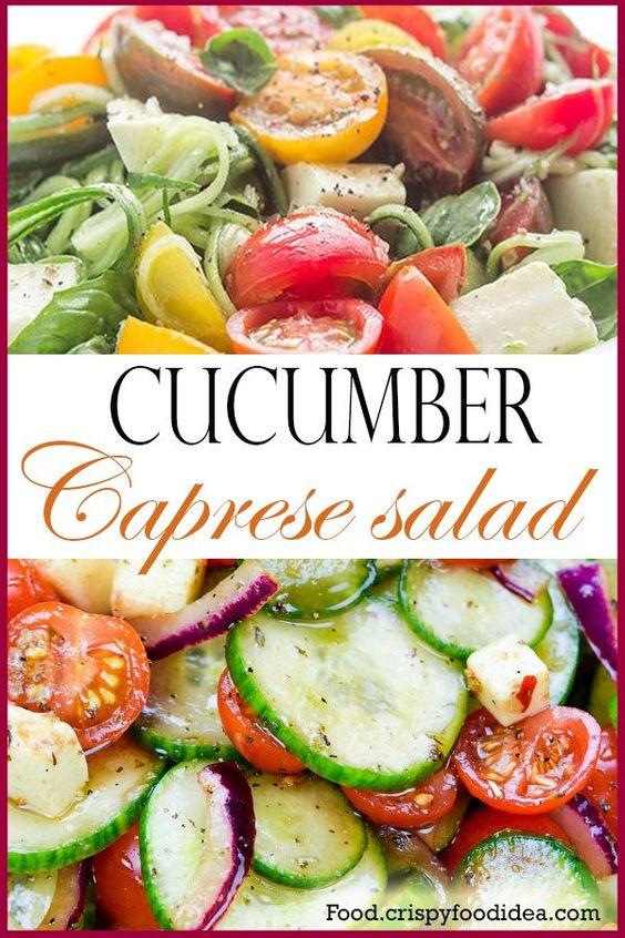 Cumber Caprese Salad