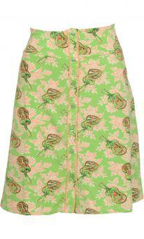 King Louie Rock Button Skirt Guitar parrot green