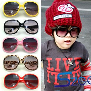 2014 Free shipping sunglasses children glasses large frame sunglasses boy girl prevent anti-uv large baby sunglasses