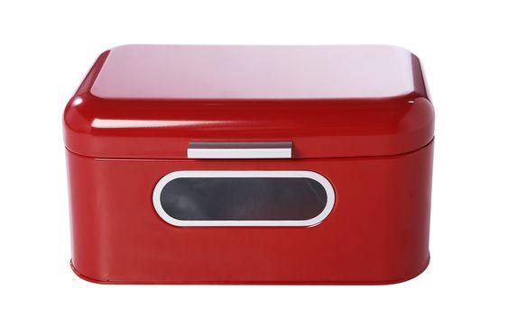 Juvale Bread Box For Kitchen Counter Red Retro Bread Container