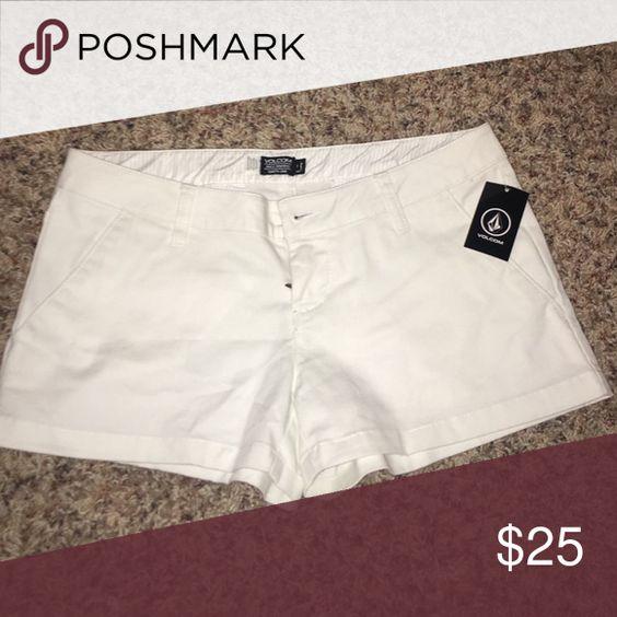 White shorts cute short shorts Volcom Shorts