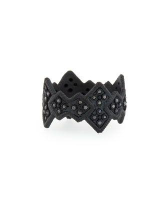 Midnight Cravelli Black Diamond Wide Ring by Armenta at Bergdorf Goodman.