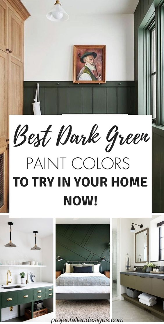 best dark green paint colors to use in your home | dark and moody | best green paint colors