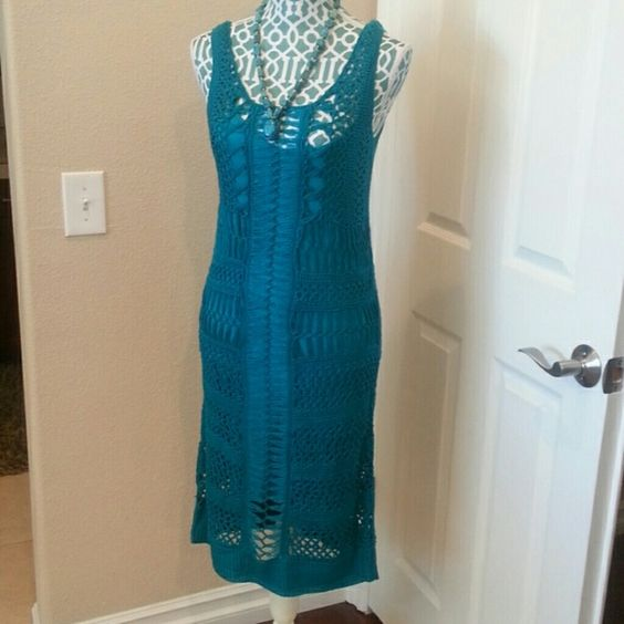 """Spotted while shopping on Poshmark: """" HP  2XTeal knit/lined dress NWT""""! #poshmark #fashion #shopping #style #Kersh #Dresses & Skirts"""