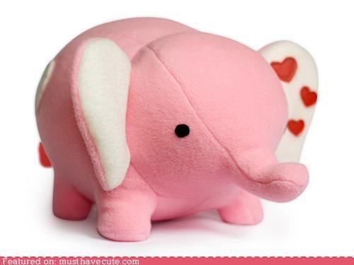 cute kawaii stuff - Love Elephant sewing pattern