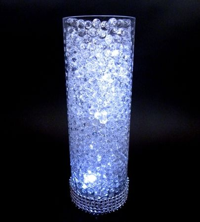Designer water beads for centerpieces - wedding bling - weddings by pritchard - ottawa - wholesale