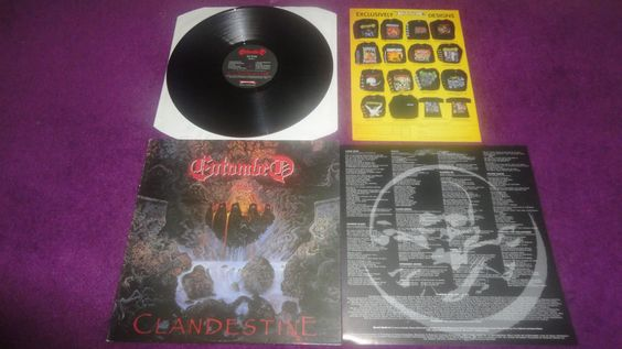 Entombed Clandestine LP original in GOOD condition (not like the one pictured)
