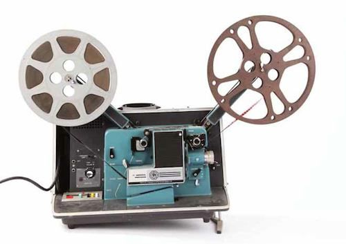 Classroom movie projector--if you saw this when you walked into class, it was going to be a good day!