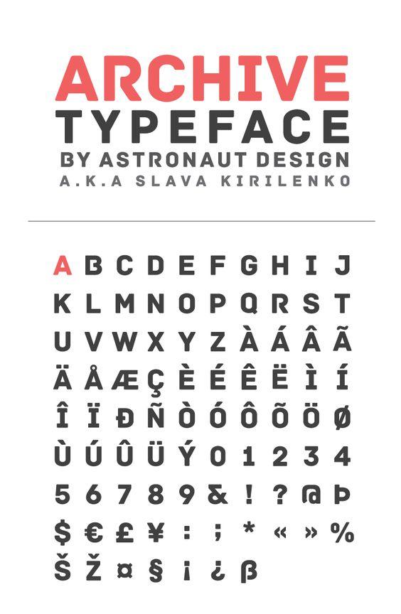 Archive #font http://fontfabric.com/archive-free-font/