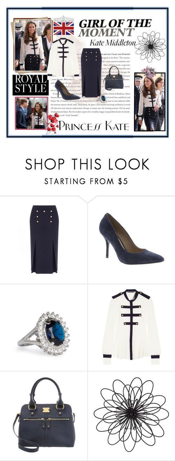 """""""Get the Look: Kate Middleton"""" by abbyd900 ❤ liked on Polyvore featuring Alexander McQueen, Barratts, Jon Richard, Modalu, Universal Lighting and Decor and Kate Marie"""