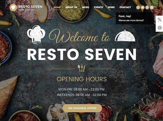 The 7 - Wordpress thema van de dag.  Met meer dan 630 verschillende opties maakt dit het een ideaal thema voor creatievelingen.  Link in bio.. #yilps #restaurant #restaurantdesign #designblog #wordpress #responsive #multipurpose #ecommerce #woocommerce #modern #creative #website #webdevelopment #inspiration #zzp #freelancer #startuplife #webdesign #brandingdesign #digitalartist #designlife #designstudio #appdesign