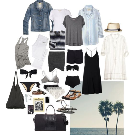 """""""Packing for the Beach"""" by coffeestainedcashmere on Polyvore"""