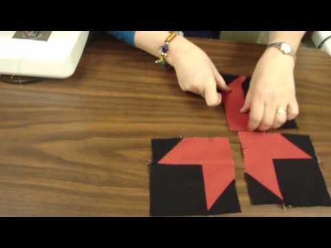 Jenny from the Missouri Star Quilt Company shows how to make a neat star block using jelly roll strips.
