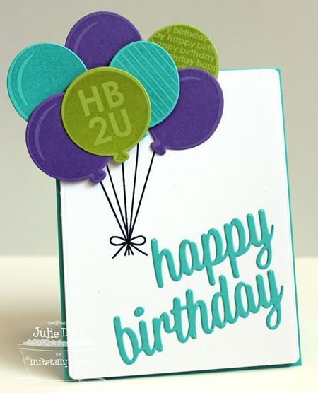 Party Balloons; Party Balloons Die-namics; Happy Birthday Die-namics; Blueprints 5 Die-namics - Julie Dinn