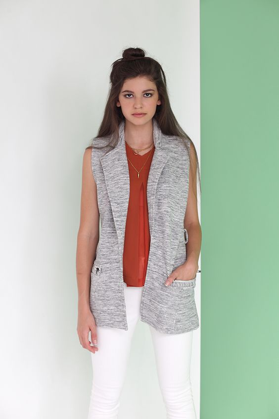 Partly Cloudy Vest from Olive + Oak
