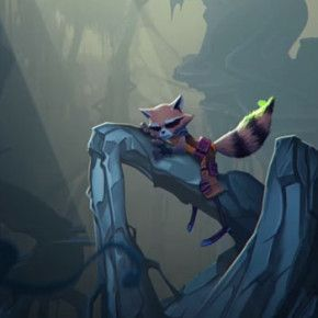 "Teste de animação do curta ""Rocket Raccoon & Groot"" para a Disney"