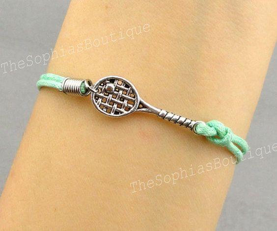 Tennis Charm Bracelet: Tennis Racket Charm Bracelet Racquetball By