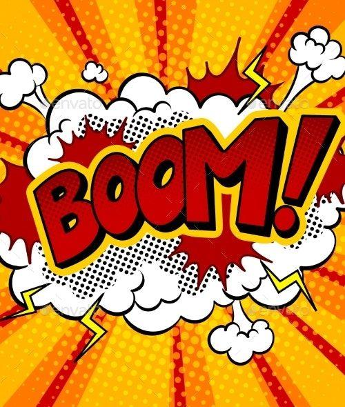 Boom Word Comic Book Pop Art Vector Illustration by AlexanderPokusay