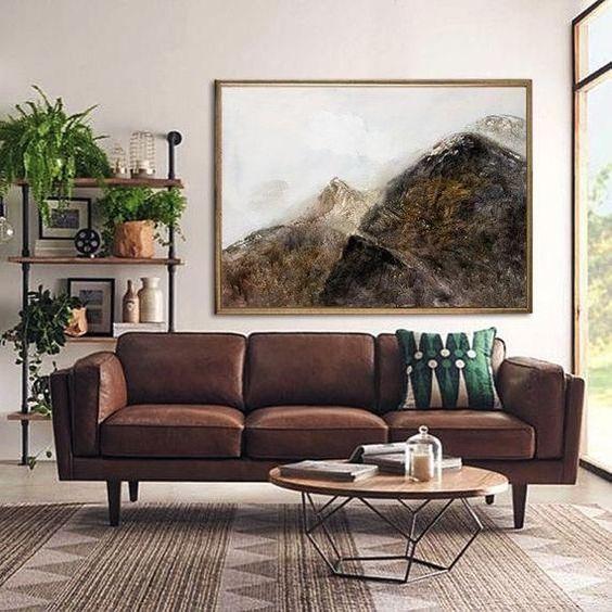 Chọn sofa da thật tphcm hợp với không gian phòng khách