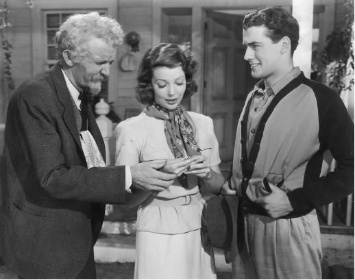 "Walter Brennan, Loretta Young, and Richard Greene in ""Kentucky"" (1938) Walter Brennan - Best Supporting Actor Oscar 1938"