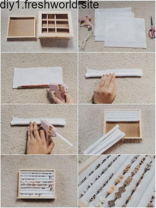 DIY Ohrstecker Halter Veranstalter | Opberg hout, Houten