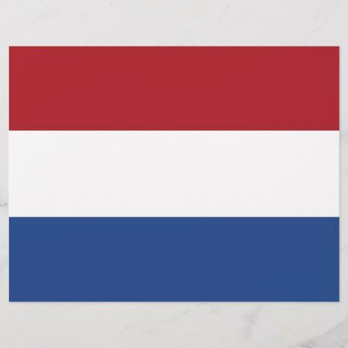 Letterhead With Flag Of Netherlands Flag Personalized Custom Letterhead